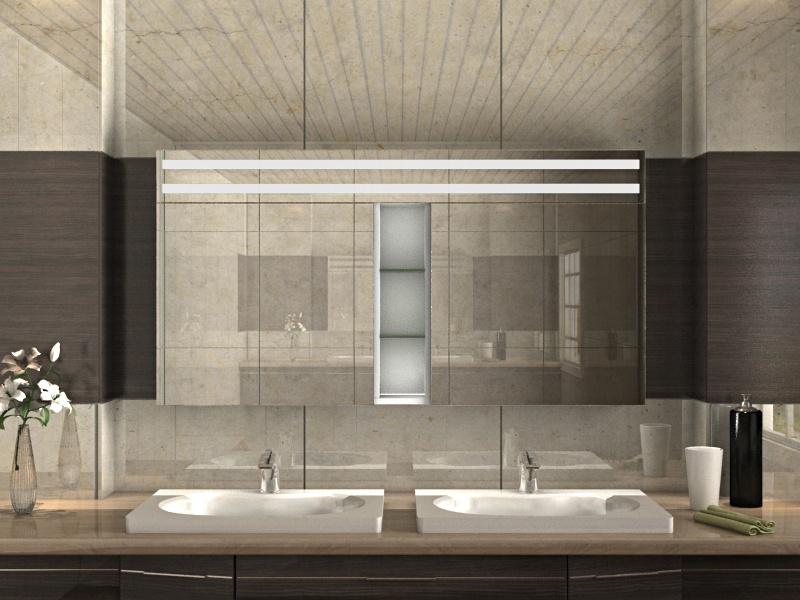 Aniko - eleganter Badezimmer Spiegelschrank mit Beleuchtung oben