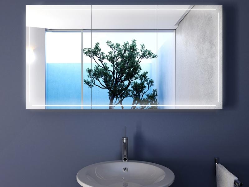 bad spiegelschrank francesco mit led wellnessatmosph re schaffen. Black Bedroom Furniture Sets. Home Design Ideas
