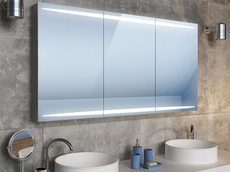 Bad Spiegelschrank LED Beleuchtung selbst konfigurieren mit Extra