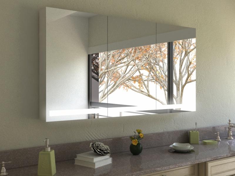 Top Spiegelschrank mit LED Beleuchtung und Steckdose selbst gestalten MV13