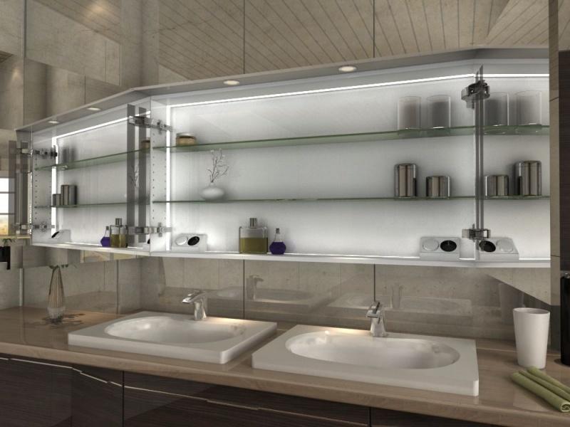 beleuchteter spiegelschrank baki zum einbau und mit led beleuchtung. Black Bedroom Furniture Sets. Home Design Ideas