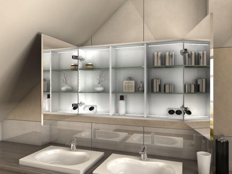 einbauspiegelschrank ohne beleuchtung f r bad mit dachschr ge. Black Bedroom Furniture Sets. Home Design Ideas