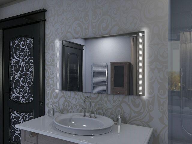 Eiko Badspiegel Mit Uhr Und Raffiniertem Spiegel Led Design
