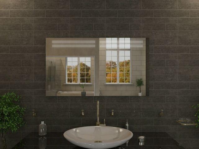 bedzimmerspiegel luhan beleuchteter badspiegel mit led streifen oben. Black Bedroom Furniture Sets. Home Design Ideas