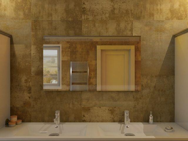 badspiegel liano moderner spiegel mit beleuchtung oben unten. Black Bedroom Furniture Sets. Home Design Ideas