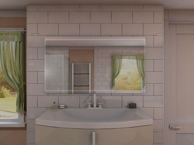 makoa sch ner badspiegel mit ablage und rundum led beleuchtung. Black Bedroom Furniture Sets. Home Design Ideas