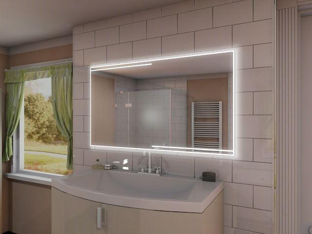 tabeo sehr stilvoller und eleganter badspiegel mit led beleuchtung. Black Bedroom Furniture Sets. Home Design Ideas