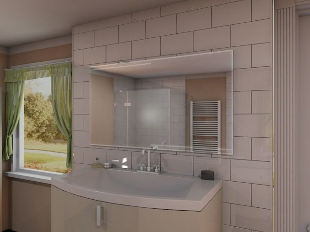 tabeo sehr stilvoller und eleganter badspiegel mit led. Black Bedroom Furniture Sets. Home Design Ideas