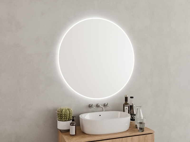 Runder Badezimmerspiegel.Moderne Runder Spiegel Fur Das Elegante Und Stilvolle Badezimmer
