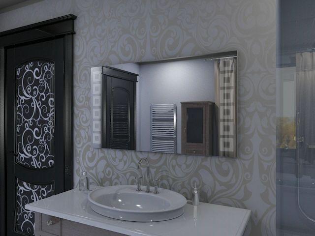 sakura led badezimmerspiegel mit geometrischem quadrat mustern. Black Bedroom Furniture Sets. Home Design Ideas