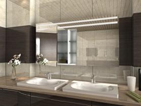 Badezimmer Spiegelschrank mit Beleuchtung Aniko