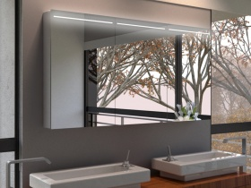 Spiegelschrank mit Beleuchtung (oben beleuchtet)