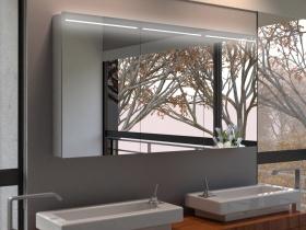 spiegelschrank mit beleuchtung oben beleuchtet. Black Bedroom Furniture Sets. Home Design Ideas