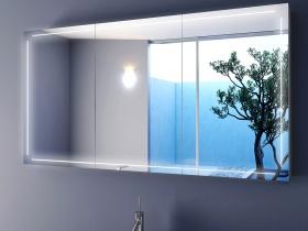Bad Spiegelschrank Francesco mit LED Wellnessatmosphäre schaffen