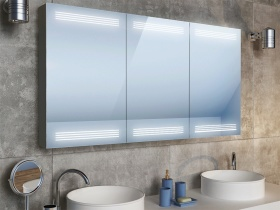 Badezimmerschrank spiegelschrank mit beleuchtung mit sparsamen led 39 s - Beleuchtung fur spiegelschrank ...