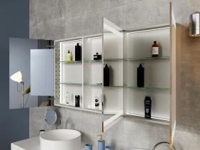 Design Spiegelschrank mit Beleuchtung Sabio