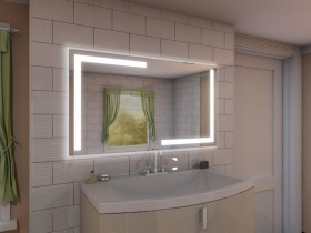 Badspiegel mit LED Beleuchtung - Yamei