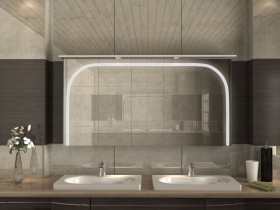 Design Spiegelschrank mit Kranz Rika