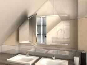 Spiegelschrank für Dachschrägen Anju