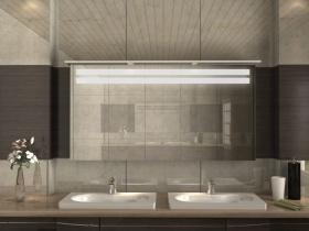 Badezimmerschrank mit Spiegel Lan