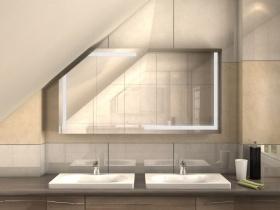 Spiegelschrank für Ihre Dachschräge im Bad, alles exakt nach Maß.