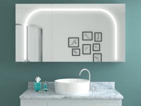 Design Spiegelschrank mit Beleuchtung Kazuha
