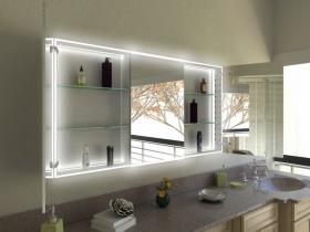 Jiang - Badezimmer Spiegelschrank mit schicken Designer-Profilen