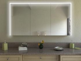 Bad Spiegelschrank Zeng mit Designprofilen