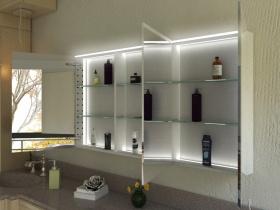 Spiegelschrank Koichi mit Designprofilen