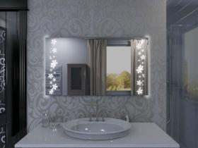 Badspiegel mit LED Beleuchtung Tifur