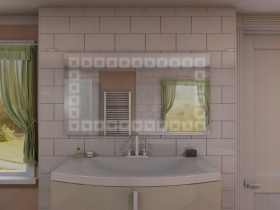 Badspiegel mit LED Beleuchtung - Keyomi