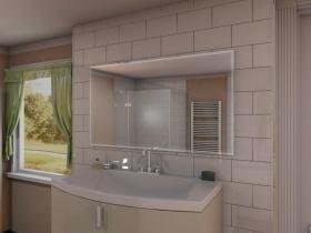 Badspiegel mit LED Steckdose - Sino