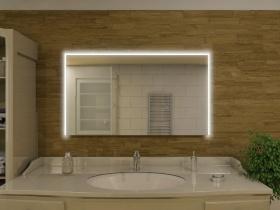 elegante badspiegel mit beleuchtung led b nder rechts oben und links. Black Bedroom Furniture Sets. Home Design Ideas
