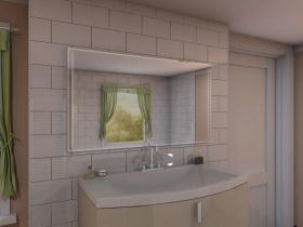 Badspiegel LED mit Touch Sensor - Quang