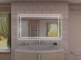 Badspiegel mit Uhr - Kinay