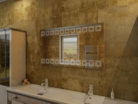 Badspiegel mit LED Beleuchtung - Sina