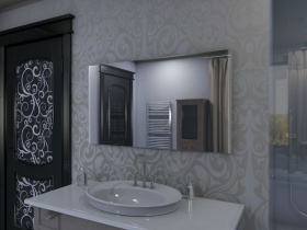 Badspiegel mit LED Beleuchtung - Nami