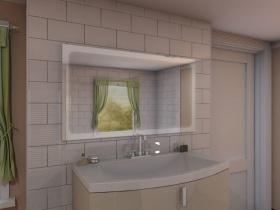 Badspiegel mit LED Beleuchtung - Bonian