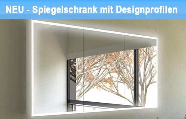 Neu im Sortiment – Spiegelschrank mit Designprofilen