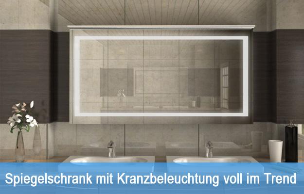 Spiegelschrank mit Kranzbeleuchtung voll im Trend